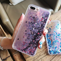 Wholesale dynamic liquid phone cases for sale – best Hot Love Heart Glitter Stars Dynamic Liquid Quicksand Soft TPU Phone Back Cover Case For Iphone Plus X S Plus XS MAX XR