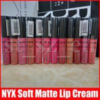 Wholesale nyx lipgloss resale online - NYX Soft Matte Lip Cream Liquid Lipstick Charming Vintage Long lasting Daily Party Brand Glossy Makeup Lipgloss Lip Gloss