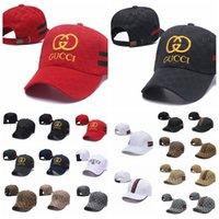 chapeau de visière rayé achat en gros de-Casquette de baseball brodée G lettre rayée Buns chapeau camionneur casquettes de poney unisexe visière casquette papa chapeau été en plein air Snapbacks AAA2214