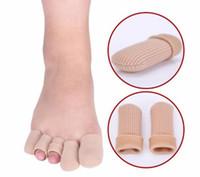 ingrosso piede piedi protettore-Gel e cotone Dita dei piedi Punta Gel Cap Dita Punta vesciche Callous Sollievo tubo Protector Piccola cura dei piedi Salute Toe salute
