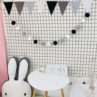 Wholesale diy baby room decor for sale - Group buy 2 M DIY Macaron Color Hair Ball Decor Banner Baby Room Decoration Bedding Bumpers Kids Party Flags Kids Girls Room Decor SH190916