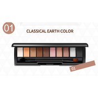 zehn make-up großhandel-Zehnfarben-Lidschatten rauchte Perlicht Anti-Aquarell Make-up 2018 NEW ARRIVAL