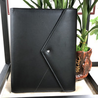 Wholesale supplies envelopes resale online - New Handmade Leather Notepads Black envelope Agenda Luxury Office School Supplies Notebooks Personal Diary Stationery Products