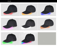 Designer LED Baseball Caps Cotton Black White Brown Shining LED Light Ball Caps Glow In Dark Adjustable Snapback Hats Luminous Party Hats