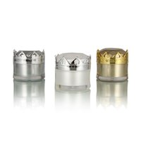 ingrosso oro 5g-5g 10g corona cosmetica vasetto di crema contenitore cosmetico vuoto di lusso con tappo a corona in oro bianco argento