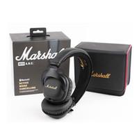 ingrosso trasduttore auricolare dell'orecchio di 3.5mm-Marshall Mid ANC Cuffie Auricolari a cancellazione attiva con Bluetooth Sport Deep Bass DJ Hi-Fi Cuffie stereo auricolari stereo DHL