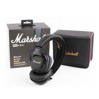 auriculares inalámbricos bluetooth estéreo dj al por mayor-Marshall Mid ANC Headphones Auriculares con cancelación activa con Bluetooth Deportes Deep Bass DJ Hifi Estéreo inalámbrico en la oreja Auriculares DHL