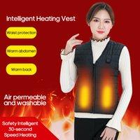 infrarouge thermique achat en gros de-Lixada Hommes Femmes Outdoor USB de chauffage à infrarouge Gilet Veste Chauffante hiver électrique vétement Waistcoat Pour Sport Randonnées