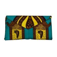 ingrosso sacchetti di tessuto africano-Di alta qualità Bazin Riche stampe cera africana tessuto donne borsa a mano di moda per il partito super cera hollandais con borsa a mano WYb382