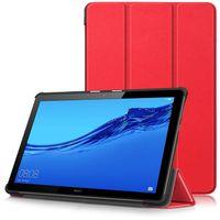 huawei mediapad ince durum toptan satış-Ultra İnce Akıllı Manyetik Trifold Deri Flip Case Huawei Mediapad T5 10 T3 7 8 10 m5 lite 8.4 10 tablet pc Standı Tam koruyucu Koyu