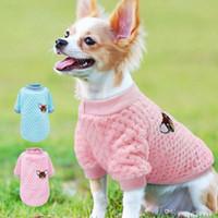 kış için sevimli köpek katları toptan satış-Küçük Köpekler Için sevimli Köpek Giysileri Chihuahua Yorkies Pug Giysi Ceket Kış Köpek Giyim Pet Köpek Ceket Ropa Perro Pembe S-2XL