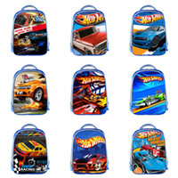 Wholesale anime printed backpack resale online - Student Car Theme Backpack Design Custom D Kids Schoolbag Boy Multi function High Capacity Student Kids Creative Anime Zipper Knapsac