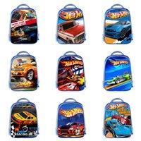 diseño de coche de niños al por mayor-Student Car Theme Mochila 13 Diseño Custom 3D Kids Schoolbag Boy Multifunción High Capacity Student Kids Creative Anime Zipper Knapsac 06