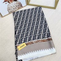 Wholesale silky scarves resale online - Silky comfortable elegant fashionable beautiful women s four seasons silk scarves letter F scarf shawl size cm