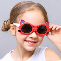 Wholesale infant sunglasses resale online - Kids Polarized Sunglasses Boys Girls Baby Infant Sunglass TR90 Fashion Cute Sun Glasses Child Shades Goggles UV400 Eyewear Gafas
