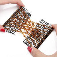 cabelo mágico pentes clipes venda por atacado-Combs Acessórios Para o Cabelo Da Noiva Da Coroa Grampos de Cabelo Beads Magia Pente Forma Pente Escova De Cabelo elástico
