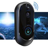 batería de la cámara de visión nocturna al por mayor-1080P Timbre de video inteligente Inalámbrico Seguridad para el hogar Baterías para cámaras Cámara de detección PIR de visión nocturna de 2 vías Hablar