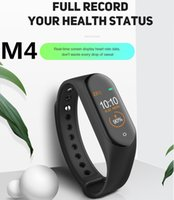 ingrosso stile androide-M4 Smart Tracker Fitness Tracker PK Mi Band 4 Fitbit Style Smart Watch da 0,96 pollici IP67 Impermeabile frequenza cardiaca