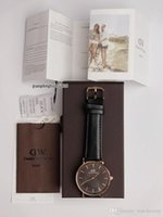relógio de marca prata venda por atacado-2018 marca de moda casal homens 40mm senhoras 36mm 32mm pulseira de couro de prata de ouro relógios de presente Relógios De Pulso com caixa Relogios masculino relojes