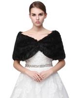 Wholesale evening stoles wraps resale online - Wraps Faux Fur Winter Bridal Wrap Stole Shrug Cheap Wedding Evening Prom Party Shawl In Stock