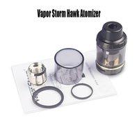 Wholesale organic electronics for sale - Group buy Vapor Storm Hawk Atomizer Tank ohm Coil Replaceable Organic Cotton ML Capacity Up To W Box Mod Electronic Cigarette Tank