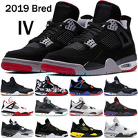 Wholesale hot trainers online - 2019 Bred s basketball shoes men mens laser black gum thunder royalty tattoo hot lava rapotors designer sneakers IV Pure money trainers