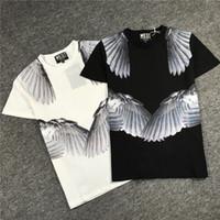 ingrosso camicie da uomo di moda giovanile-Mens Summer Designer Shorts Tshirt Girocollo Stampa Allentato Uomo Moda Abbigliamento Youth Luxury Esigner Shirt