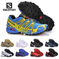 ingrosso comode scarpe da trekking-Speedcross 3 CS Solamon Scarpe da ginnastica Uomo Donna Speed Cross III Rosa Nero Blu In esecuzione Outdoor Sneakers sportive da trekking 36-46