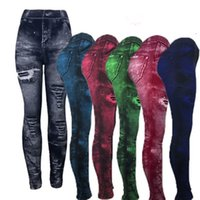 ingrosso jeans jeggings legging-Jeans skinny Jeggings Signore Leggings elastici in denim Leggings Moda Push Up Pencial Pantaloni Nuove donne Pantaloni attillati Leggings 05