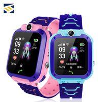 control remoto de muñeca al por mayor-Para niños Q12 niños Estudiante relojes SmartWatch cámara remota SOS impermeable SIM de llamadas para Android IOS mejor regalo PK DZ09 GT08