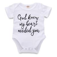 kleinkind kleinkind kleider großhandel-Neugeborenen Overall Babyspielanzug Infant Baby Mädchen Jungen Designer Kleidung Brief Gedruckt Weiß Kurzarm Kleinkind 43