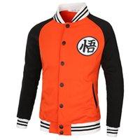 abrigos z al por mayor-2 Dragonball Z camisetas de béisbol abrigo chaqueta caliente EEEE 123 chaqueta invierno