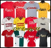 champion shirts  achat en gros de-DALGLISH Retro Soccer Jersey Champion Gerrard 2005 Smicer Alonso 10 11 Chemises Football TORRES 82 89 91 85 86 Maillot Kuyt Keane 08 09 SUAREZ