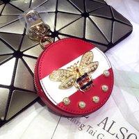 arı tatlı toptan satış-Tasarımcı anahtarlık 4 renkler Moda köpek anahtarlık deri yüksek Karikatür dekorasyon Anahtarlıklar sevimli lüks anahtarlıklar 2019 yeni stil arı sevimli