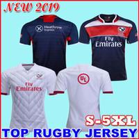 blaue rugby-trikots großhandel-2017 2018 2019 National Rugby League USA Vereinigte Staaten Rugby Trikots Marineblau 2018 2019 USA Rugby Herrenhemden