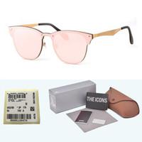 spor gözlüğü için camlar toptan satış-Yeni Arrial Alüminyum Magnezyum güneş gözlüğü kadın erkek Marka tasarımcısı uv400 lens Retro Vintage Spor güneş gözlükleri ücretsiz kılı ...
