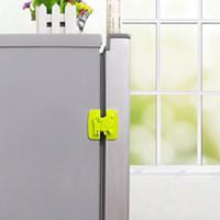 çocuk güvenliği buzdolabı kilitleri toptan satış-Buzdolabı Için Kilit Kabine Kapı Tuvalet Emniyet Kilidi Çocuk Bebek Emniyet Kilidi Karikatür Köpek Yavrusu Şekil Emniyet Dolabı Kapı Kilitleri
