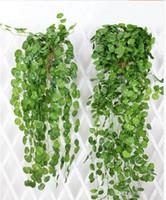ingrosso piante artificiali da giardino pendenti-90 centimetri di lunghezza Appeso foglie di vite vegetale artificiale piante finte foglie ghirlanda casa giardino decorazioni di nozze decorazione della parete