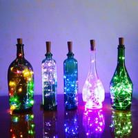 ingrosso illuminazione delle bottiglie di vetro-Garland luci leggiadramente della stringa LED 2M per bottiglia in vetro fai da te / di compleanno / partito / Capodanno / San Valentino / Wedding / decorazione di Natale per la casa del partito
