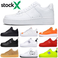 zapatos de plataforma alta al por mayor-Nike Air Force airforce forces 1 af1 just do it unning para hombre mujer dunk utility Low High White black Flax red para hombre Zapatillas de skate Zapatillas deportivas a la venta