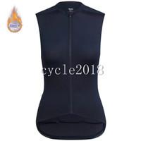 ingrosso le donne senza giunte della jersey e il ciclismo-2019 Rapha Women Cycling sleeveless jersey Fleece termico Abbigliamento da ciclismo invernale Vendita calda