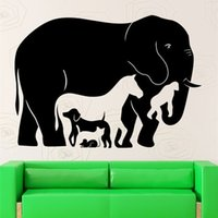 Wholesale cat design wallpaper sticker for sale - Group buy Art Design Animal Collection Wall Sticker Elephants Dog Cat Rat Monkey Horse Wall Art Home Decor Animals Wallpaper