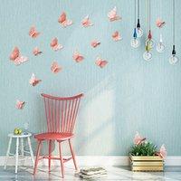 etiqueta de borboleta 3d pvc venda por atacado-12 pçs / set 3D oco borboleta adesivos de parede para quartos de crianças decoração de casa diy borboletas adesivos de geladeira decoração de casa