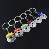 Wholesale race car parts online - Car Racing Brake Disc Caliper Keychains Keyfob Auto Part Keyrings Key Chain Metal Brake Rotors Key Ring Keyring Bag Decor Men Gift