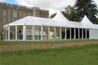 tentes tubulaires achat en gros de-Tente mixte d'événement combinée de luxe de tente de fête de mariage combinée de luxe en aluminium de structure en aluminium