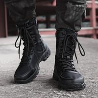 ingrosso i migliori scarponi da caccia-Stivali tattici militari degli uomini di migliore qualità, stivali da combattimento dell'esercito di caccia del motociclo del deserto di caccia esterna degli uomini Forze speciali degli stivali di combattimento