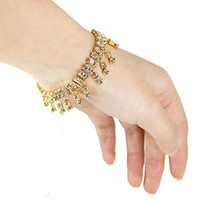 Wholesale wedding bracelets for sale - Diamond Tassel Bracelet Rows Wedding Rhinestone Austria CZ Bracelet New Crystal Bride Stretchy Bangle Wristband Fashion Bracelet