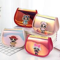 nuevo lindo animal coreano al por mayor-Nuevo y pequeño bolso láser colorido para niños Versión coreana de la bolsa de hombro entre padres e hijos linda princesa colgada pequeña bolsa 16.5 * 12 * 8cm