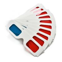 peliculas 3d cian rojo al por mayor-Anaglifo de papel universal de los vidrios 3D Vidrios de papel 3D anaglifo rojo cian rojo / azul de cristal 3D para la película RRA2095