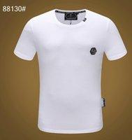 design de mode tees hommes achat en gros de-2019 Marque Design Été Street Wear Europe Mode Hommes de Haute Qualité Coton T-shirt Occasionnel À Manches Courtes Tee T-shirt # 8605pp